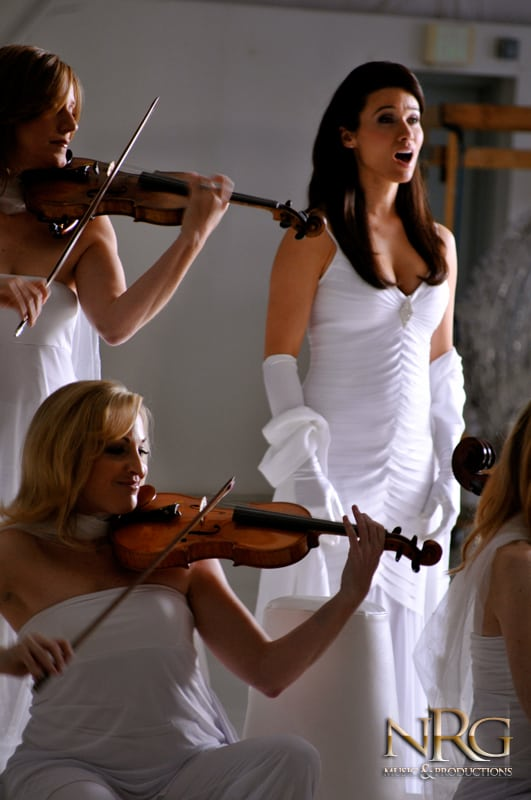 String Trio and Opera Singer in White